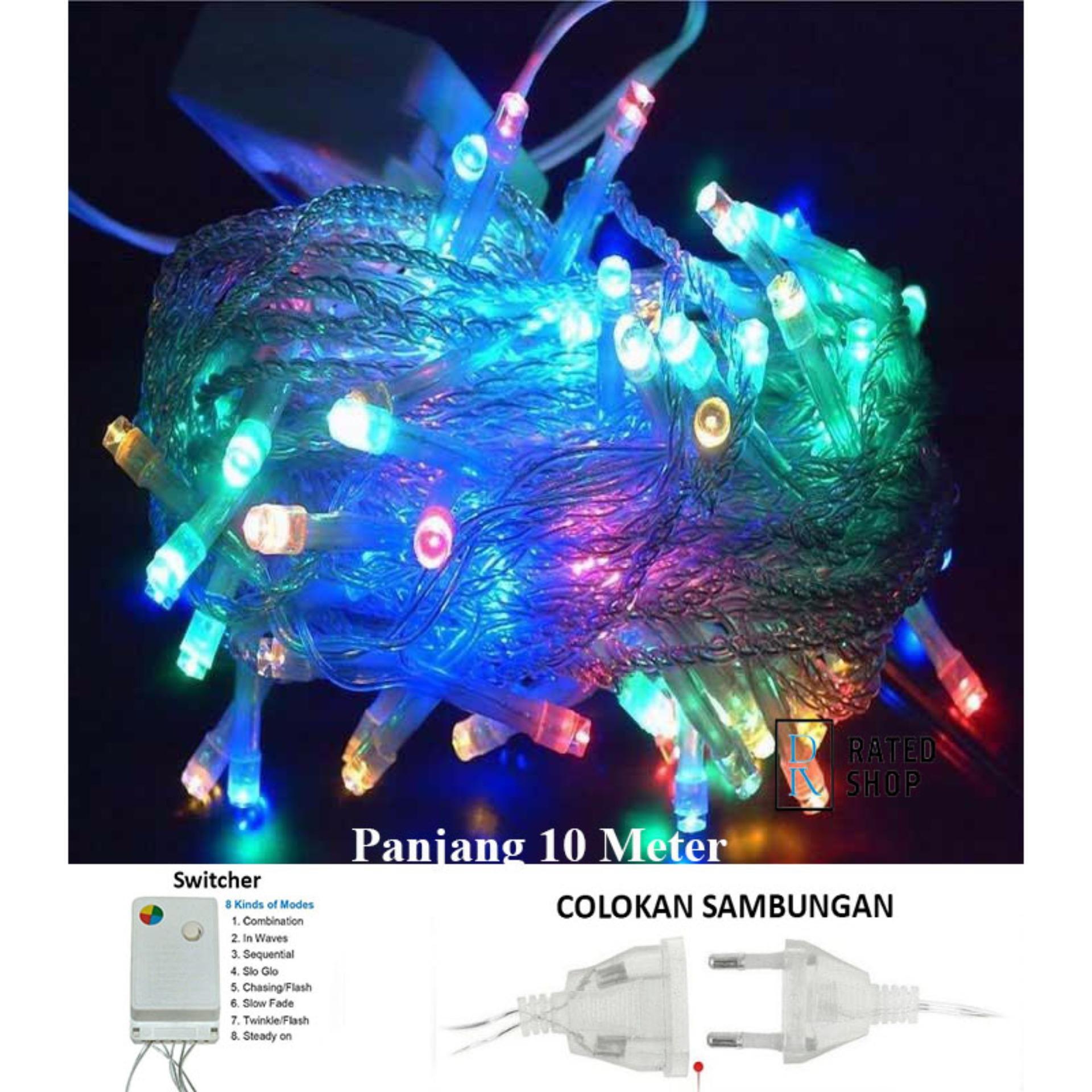 Led Tumblr Lampu Hias Natal LED RGB (Red+Green+Blue+Yellow) 10 Meter + Colokan sambungan – Rainbow