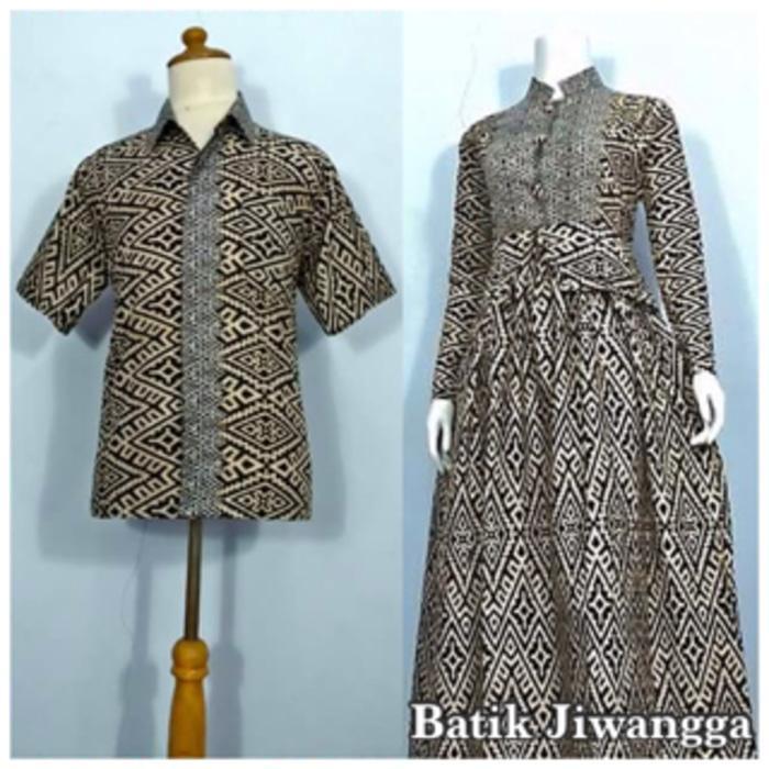BATIK COUPLE TERBARU Baju Couple Sarimbit Batik Gamis Wanita Mayang Hitam, Busui