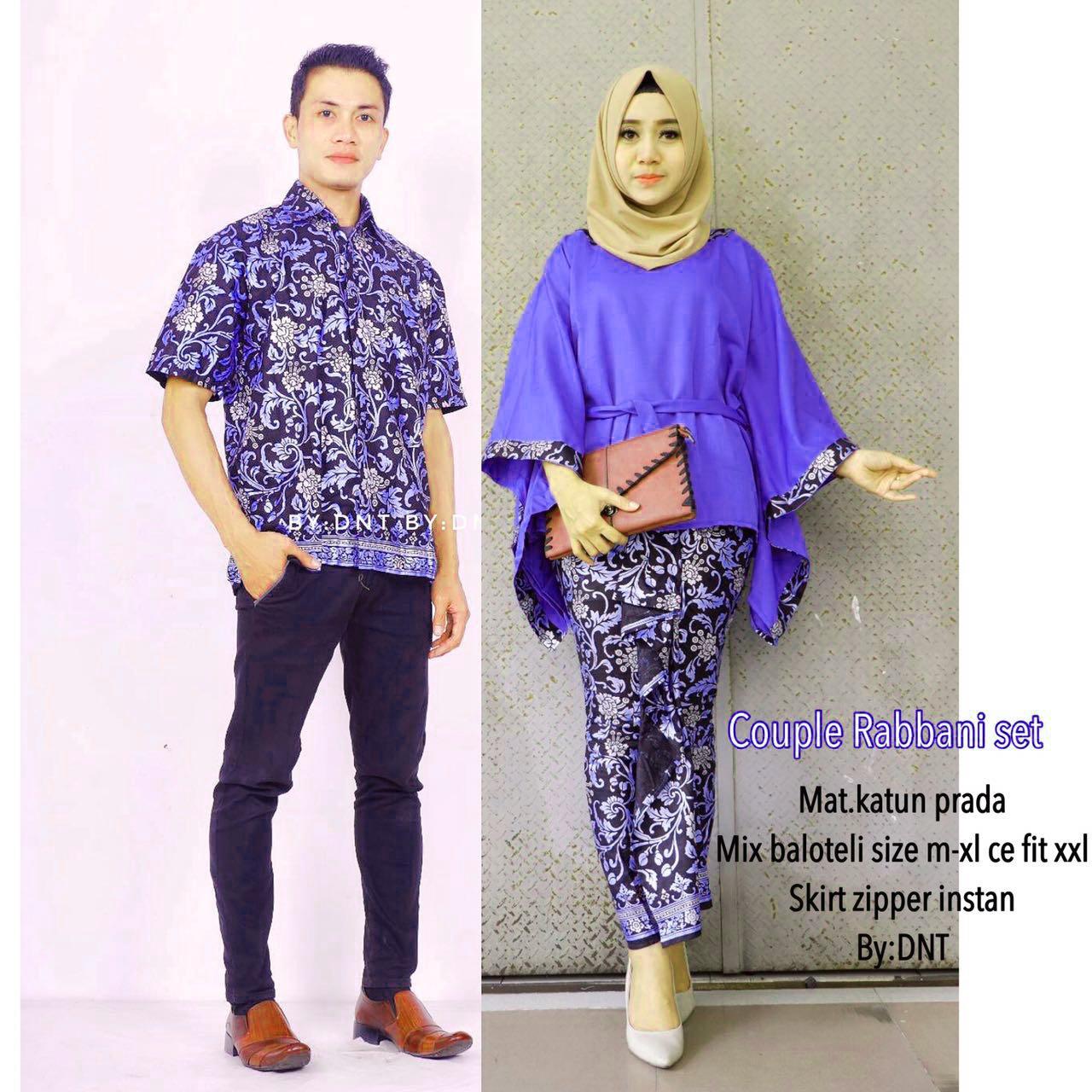 Likin Baju Batik / Batik Couple / Batik Sarimbit / Batik Pesta / Batik Keluarga Rabbani Couple