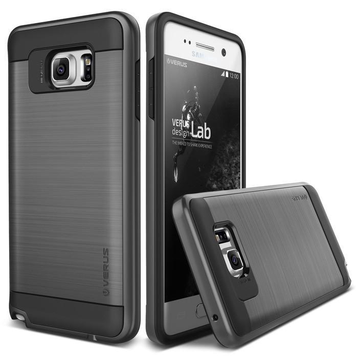 Back Case Cover Verus Verge Steel Spigen Samsung Galaxy Note 5 Casing