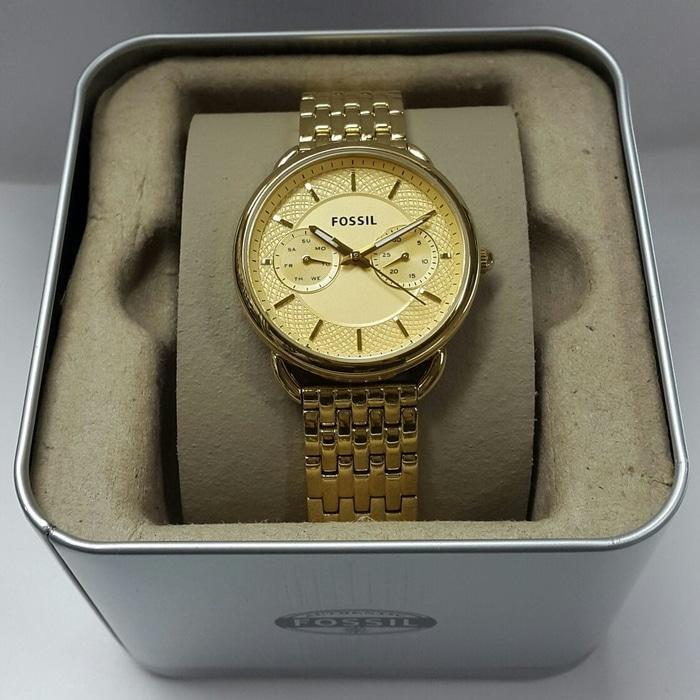 Jam Tangan Fossil ES 3713 Gold   Box Original Terlaris