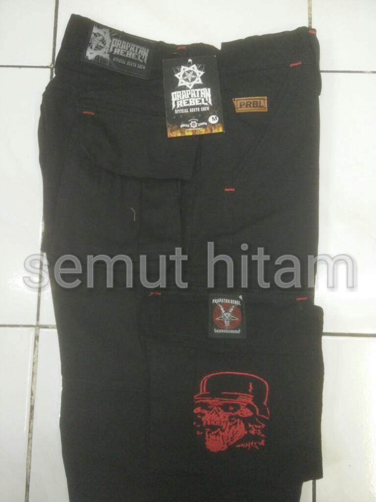 Fitur Celana Cargo Pendek Pria Kempol Metal Punk Fashion Prapatan Rebel Slayer 4