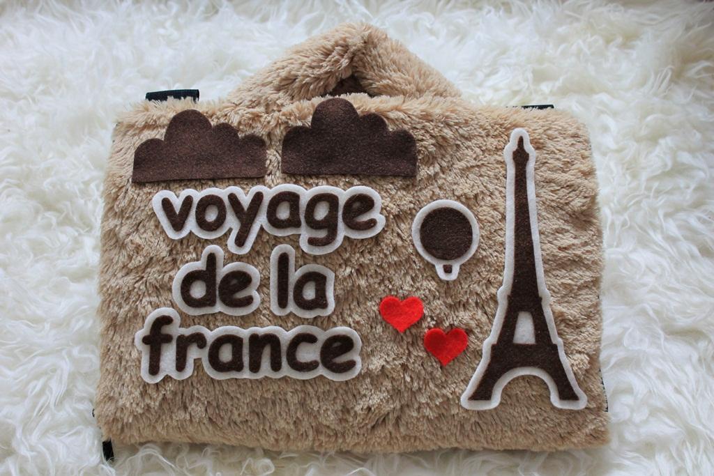 Paris Eiffel Cream 13 - 14 Inch Rasfur Bulu Lebat Tas Laptop Lucu Wanita Kado
