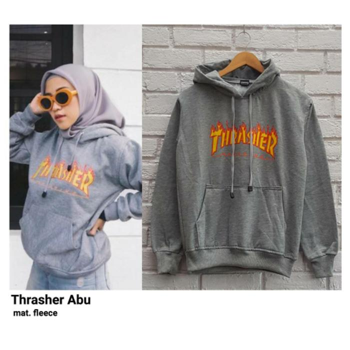 TRASHER ABU / JAKET TRASHER HOODIE / SWEATER HODIE / OBLONG
