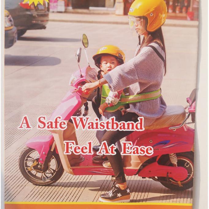 Sabuk Pengaman Anak Anak Saat Boncengan Sepeda Motor Kuat Awet - Fdefudf