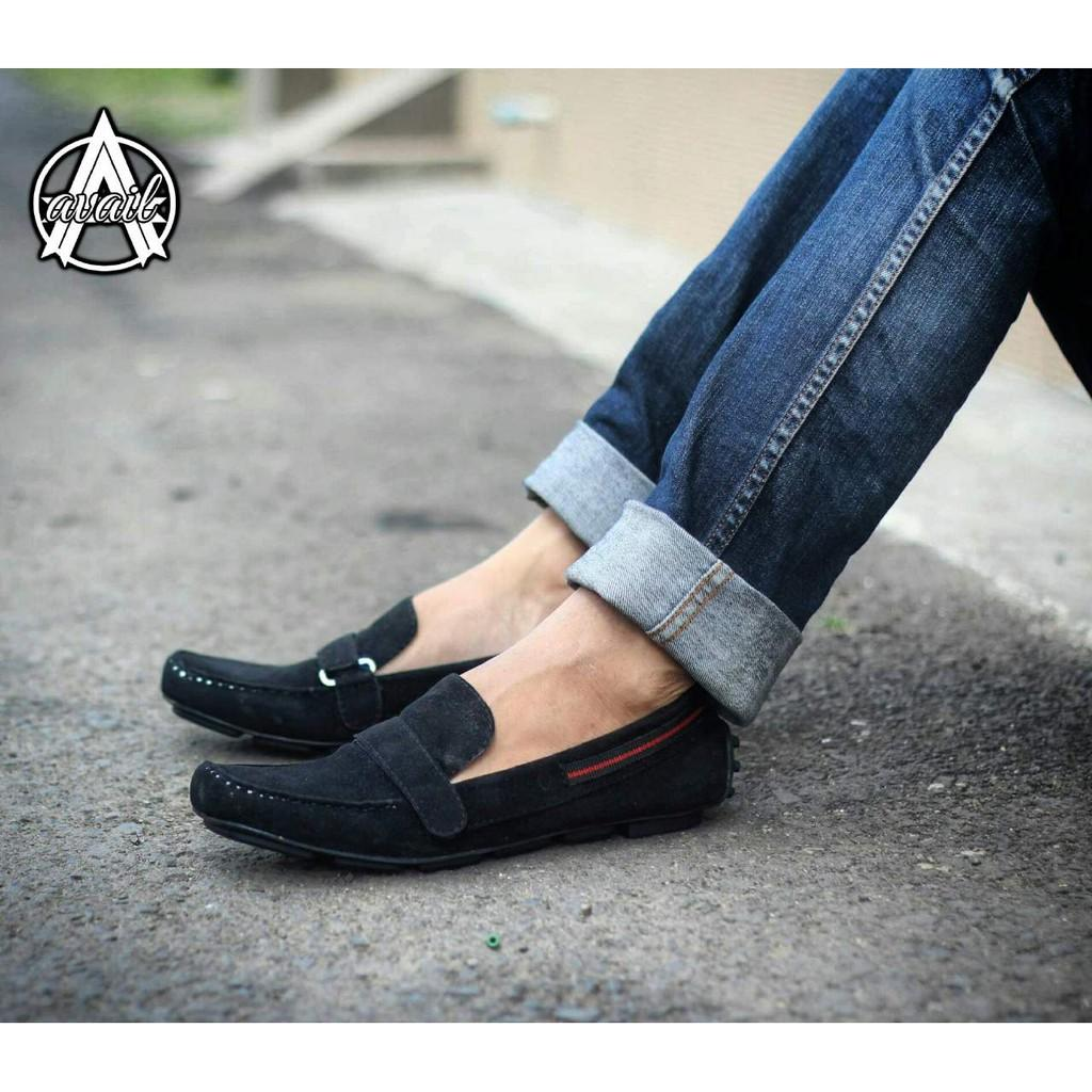 Available Everbest Original.Sepatu Casual.Sepatu Kerja .Sepatu Formal . Slip On Kulit Suade.Mocassin