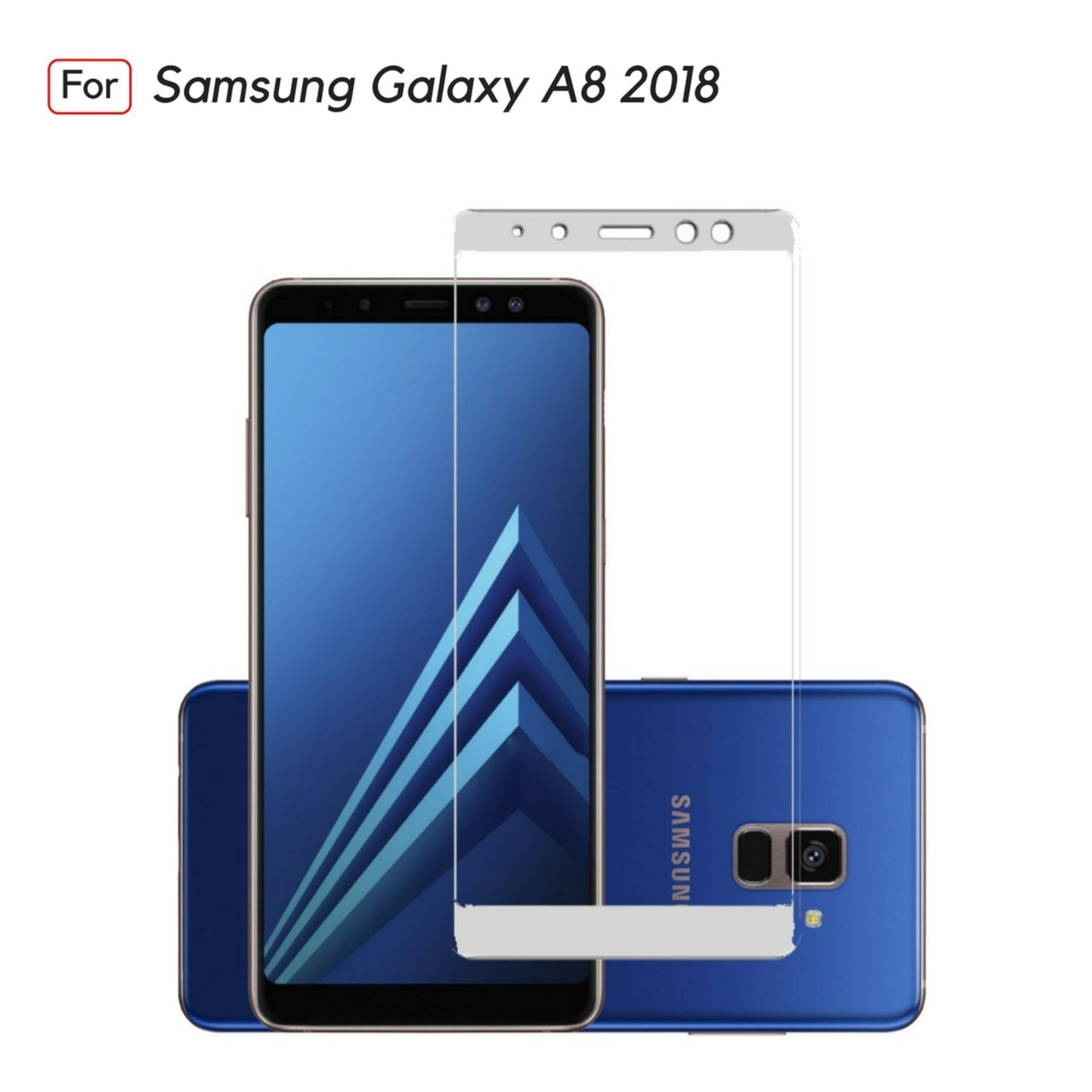 Jak Shop Tempered Glass Warna Full Corning Screen Protector For Samsung Galaxy A8 2018 - White