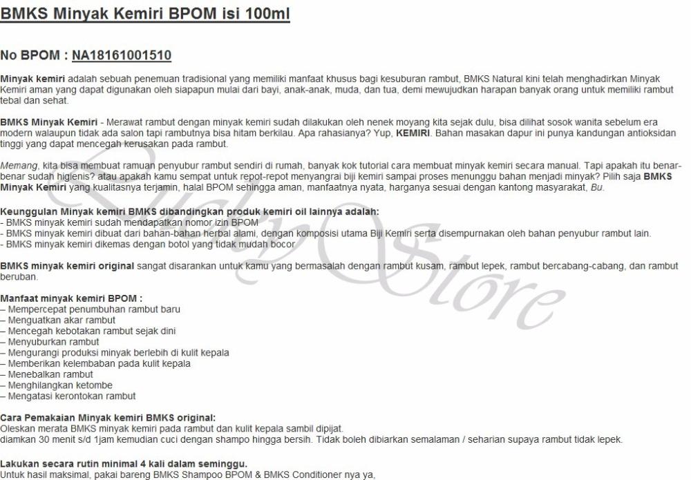 Detail produk dari BMKS Black Magic Shampoo - Shampo Kemiri Penumbuh Rambut + Free BMKS Minyak Kemiri Penyubur dan Penghitam Rambut BPOM