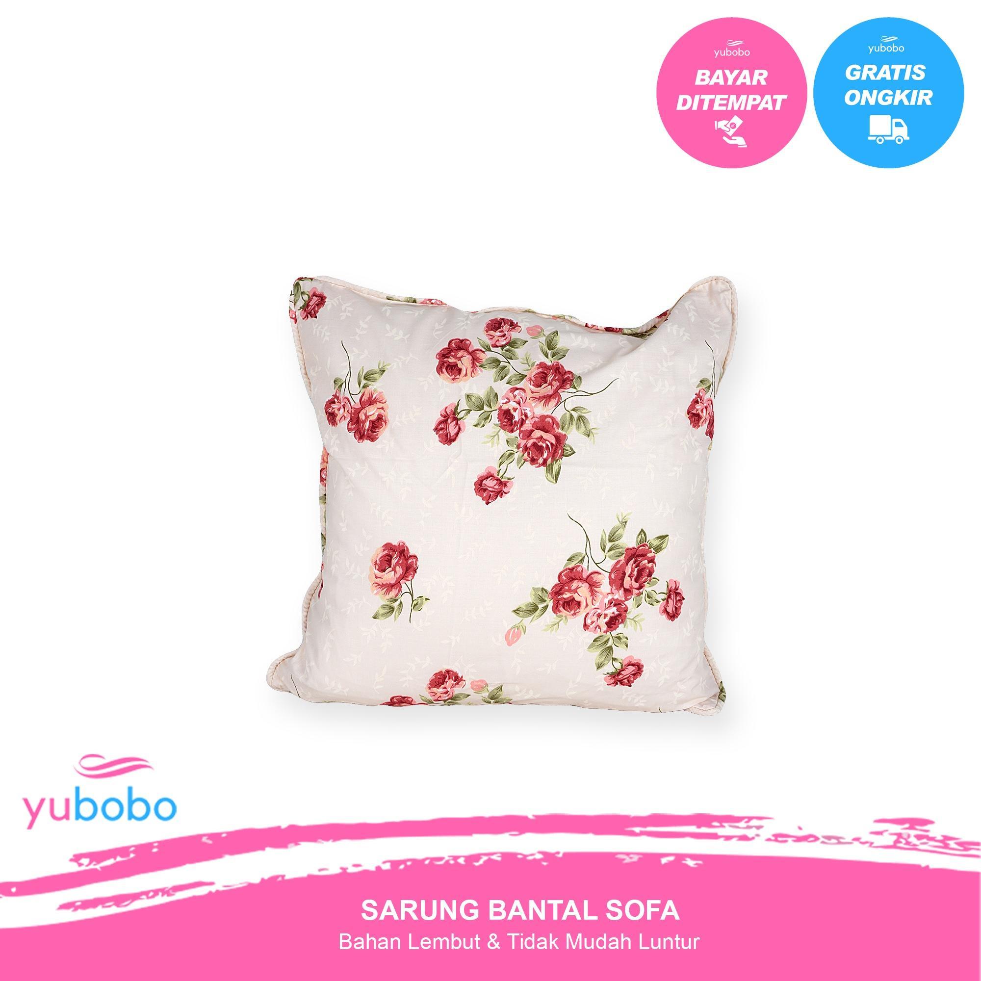 Yubobo - Sarung Bantal Sofa  / Kursi Tamu Promo (Hanya Sarung) Bahan Katun Jepang