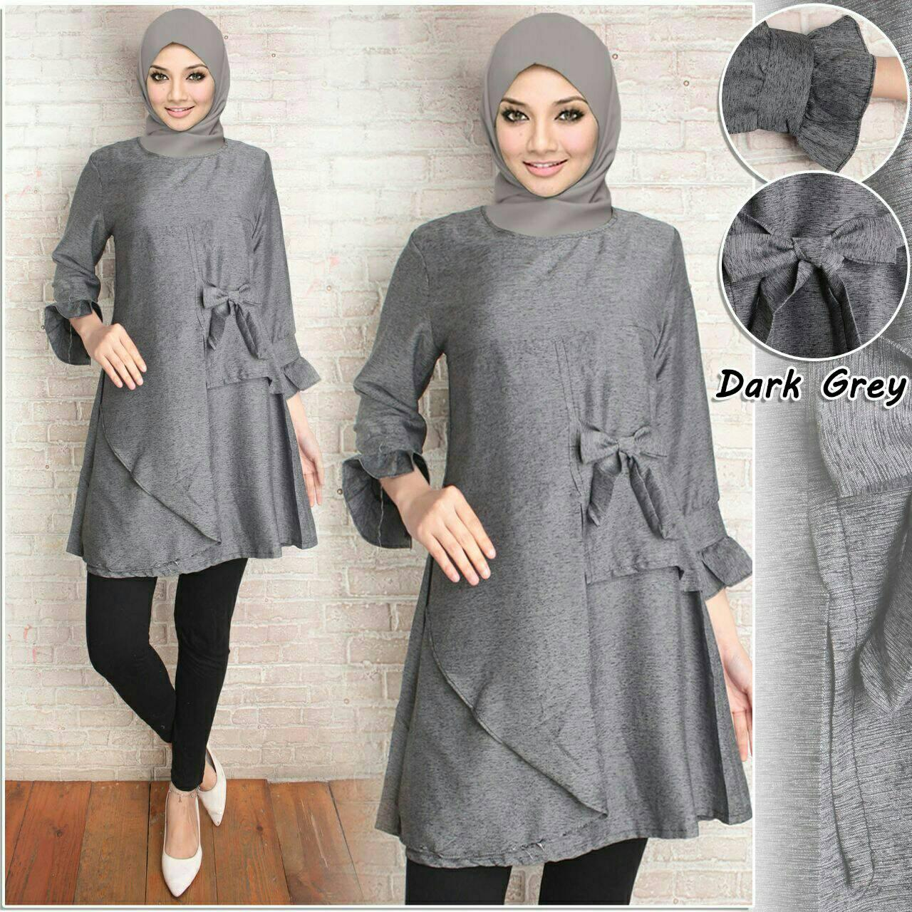 FS - TUNIK MUSLIM PITA I SIMPLE & POLOS I BAJU PESTA I REAL PICT (FOTO ASLI ) I MODEL 2018 I FASHION TERKINI