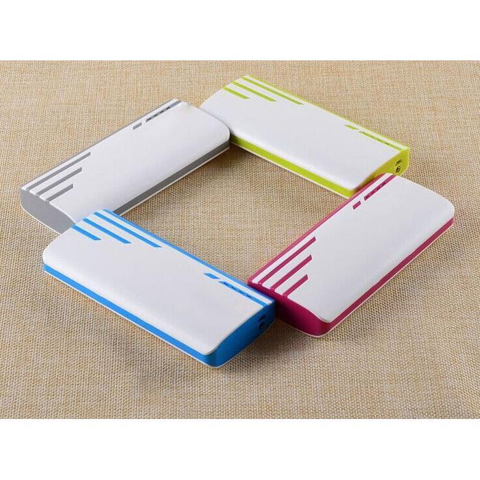 Power Bank 3 Color Strip 3 USB Port 10400Mah High Quality