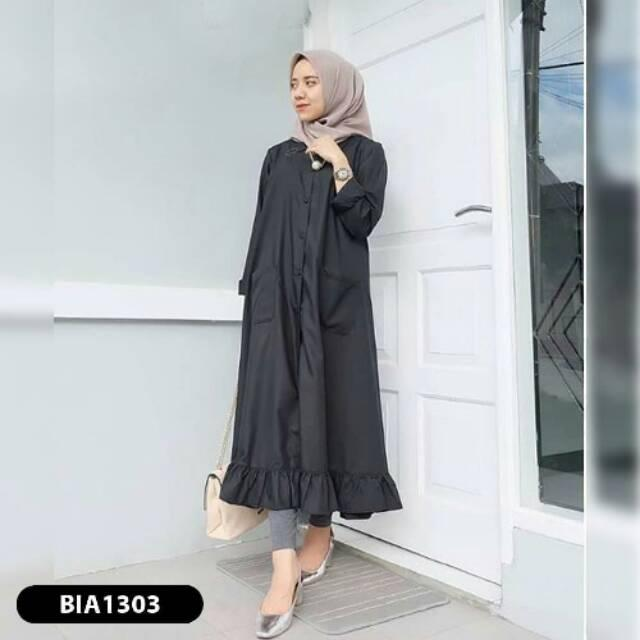 Tunik Velove Long Tunic Balotelly Baju Wanita Muslim Panjang Blus Modern Atasan Blouse Hijab Casual Pakaian Modis Baju Kerja Trendy Baju Model Terbaru