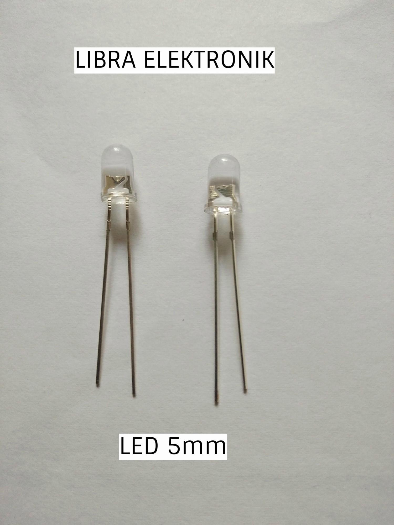 Lampu Led Bening 5mm Warna Biru harga per 10 pcs