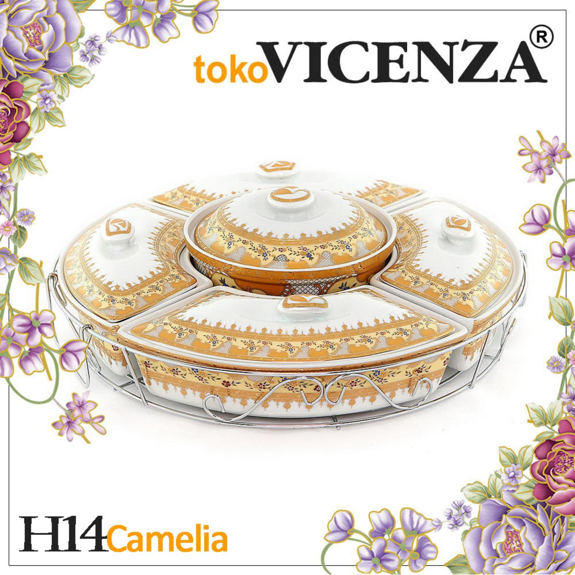 Vicenza Prasmanan Snack H14  Garansi Pecah Motif Camelia