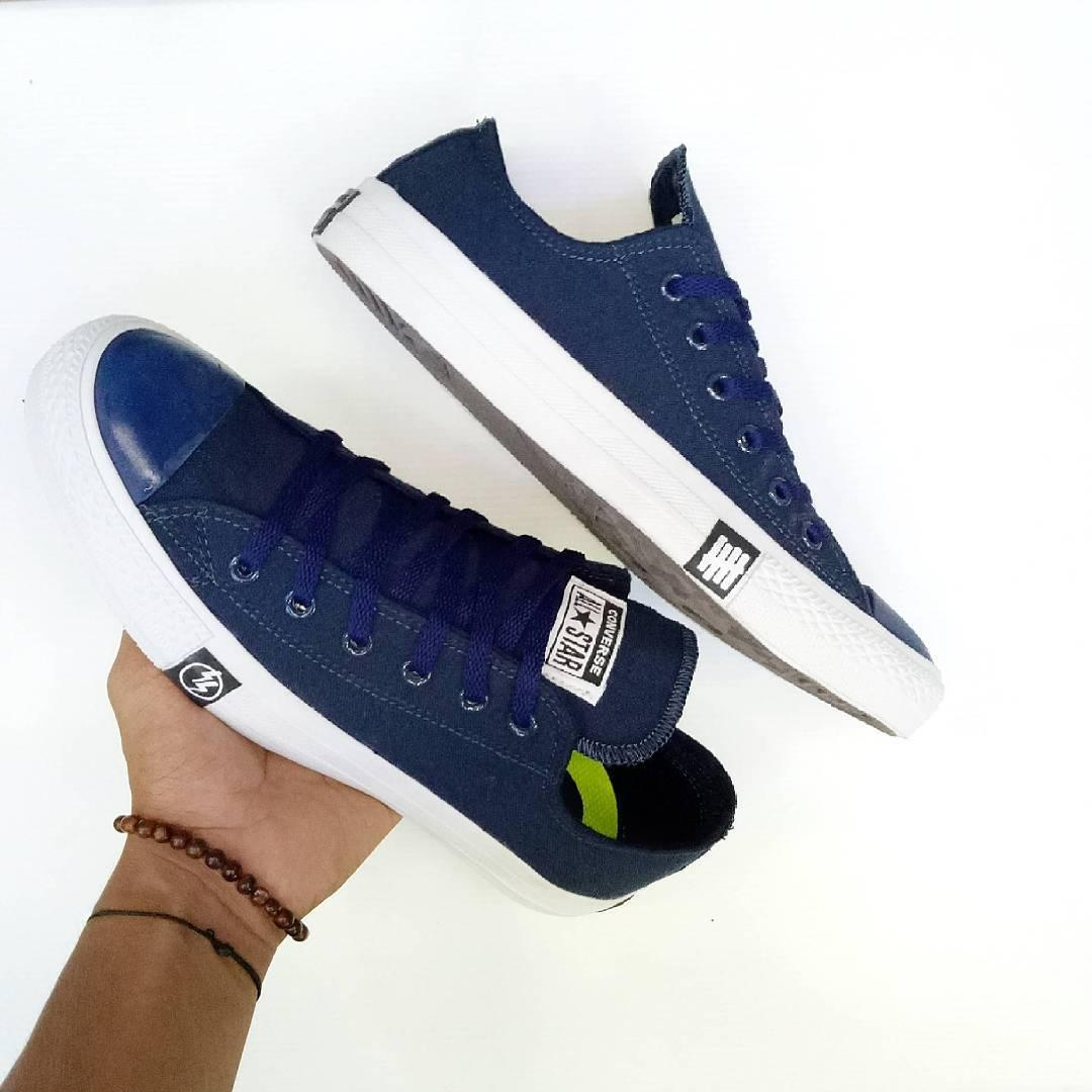sepatun sneakers converse all star ct splash unisex-navy