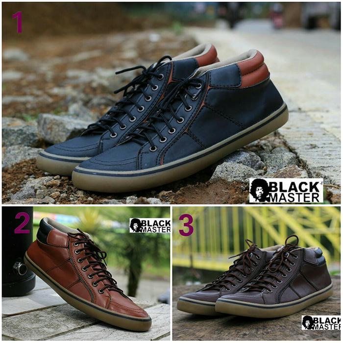 Promo Sepatu Sneakers Pria Black Master Geox Casual Kuliah GRATIS 1KAOS KAKI Diskon