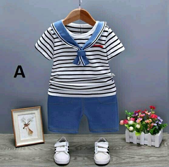 Baju Setelan Bayi Anak Import Premium School Style - Baju Bayi anak Kaos tee celana panjang bayi anak Import murah lucu baju pesta Perlengkapan bayi