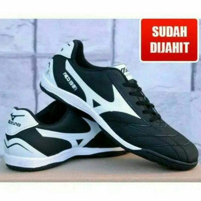 BEST SELLER!!! Sepatu Futsal Mizuno Hitam List Putih Murah Eceran Dan Grosir