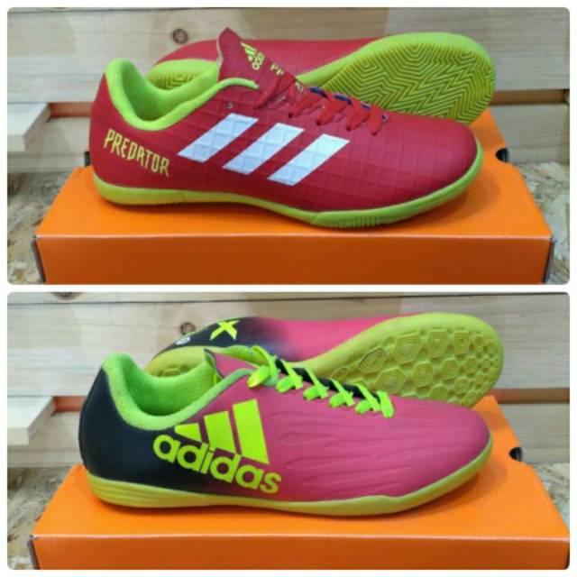 Sepatu Futsal Adidas Predator Techfit Sport Olahraga Lari Soccer Sepakbola Pria Murah Cowok Pria
