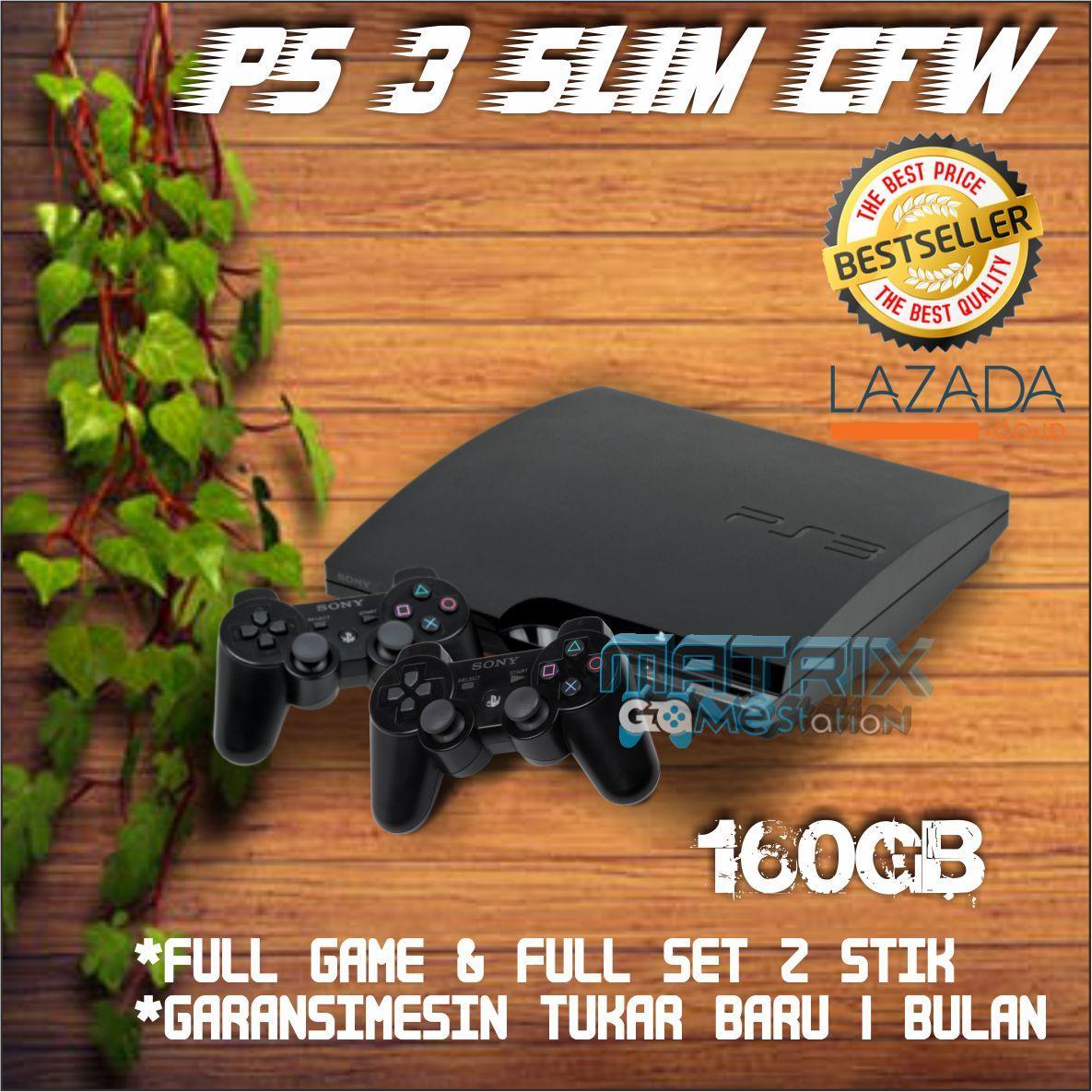 Playstation 3 SLIM Sony PS3 SLIM 160gb CFW 2 Stick PROMO