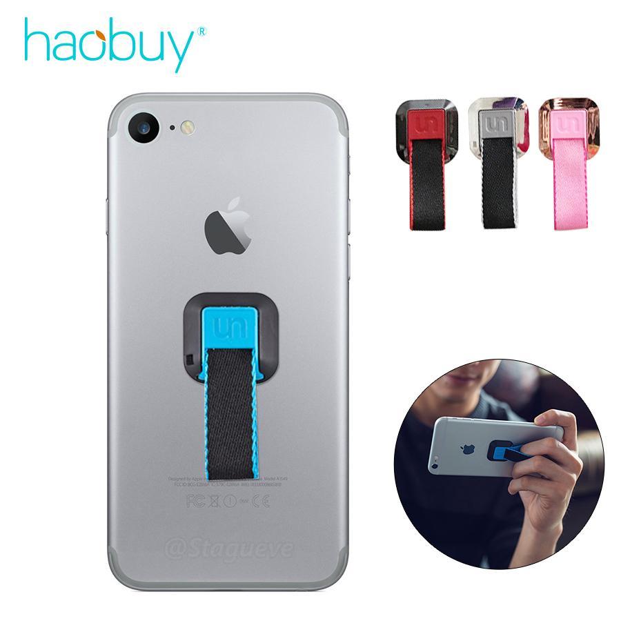 Mode Terkini Cincin Kain Tekstil Pegangan Klip Telepon Grip Ponsel Cerdas Universal Pegangan Telepon Cerdas Cincin Warna Warni Grip-Intl