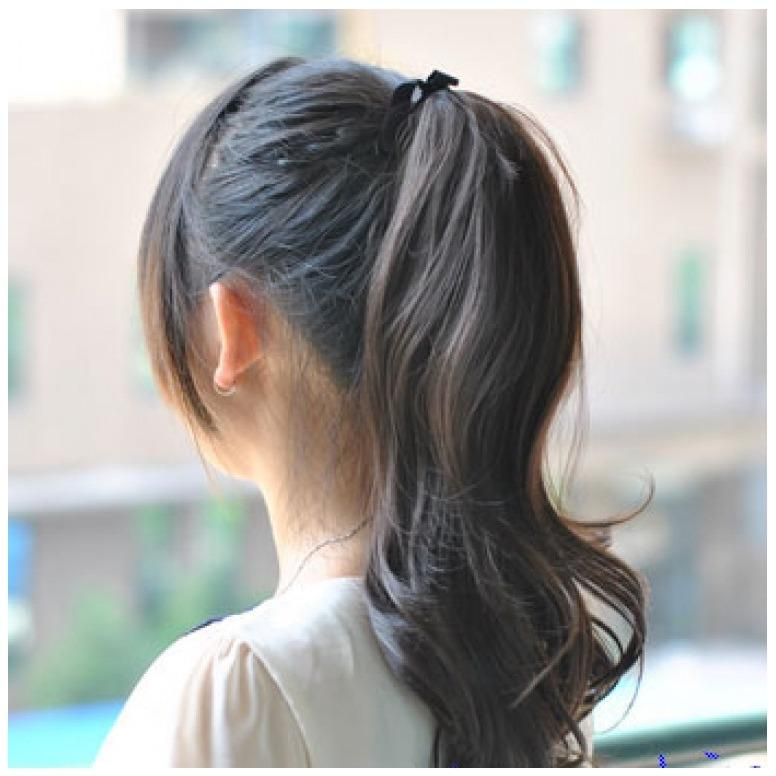 Hair Clip Volume Ponytail Kuncir Panjang Curly (Hitam Natural) - HO2154