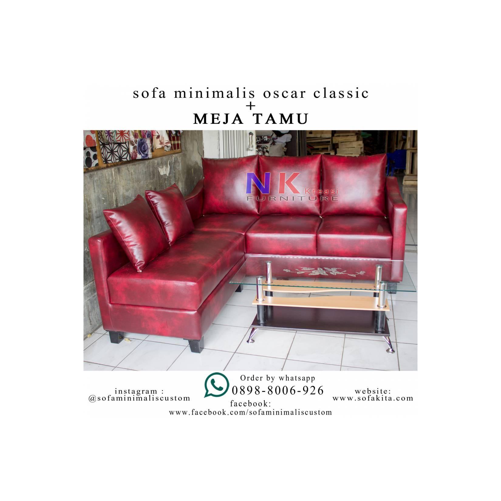 Sofa Kursi Tamu L Minimalis (69) Sofa Sudut kantor Mewah + MEJA TAMU
