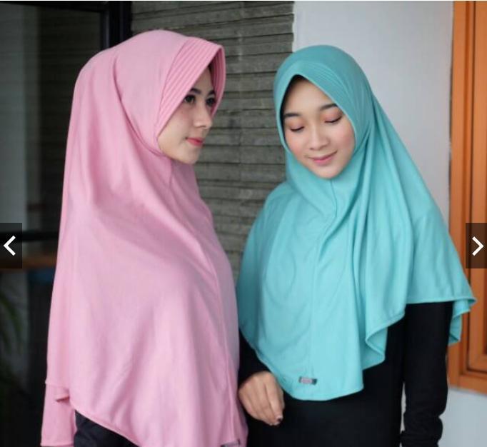 Hijab instan jilbab instan kerudung bergo kaos pet antem ukuran L
