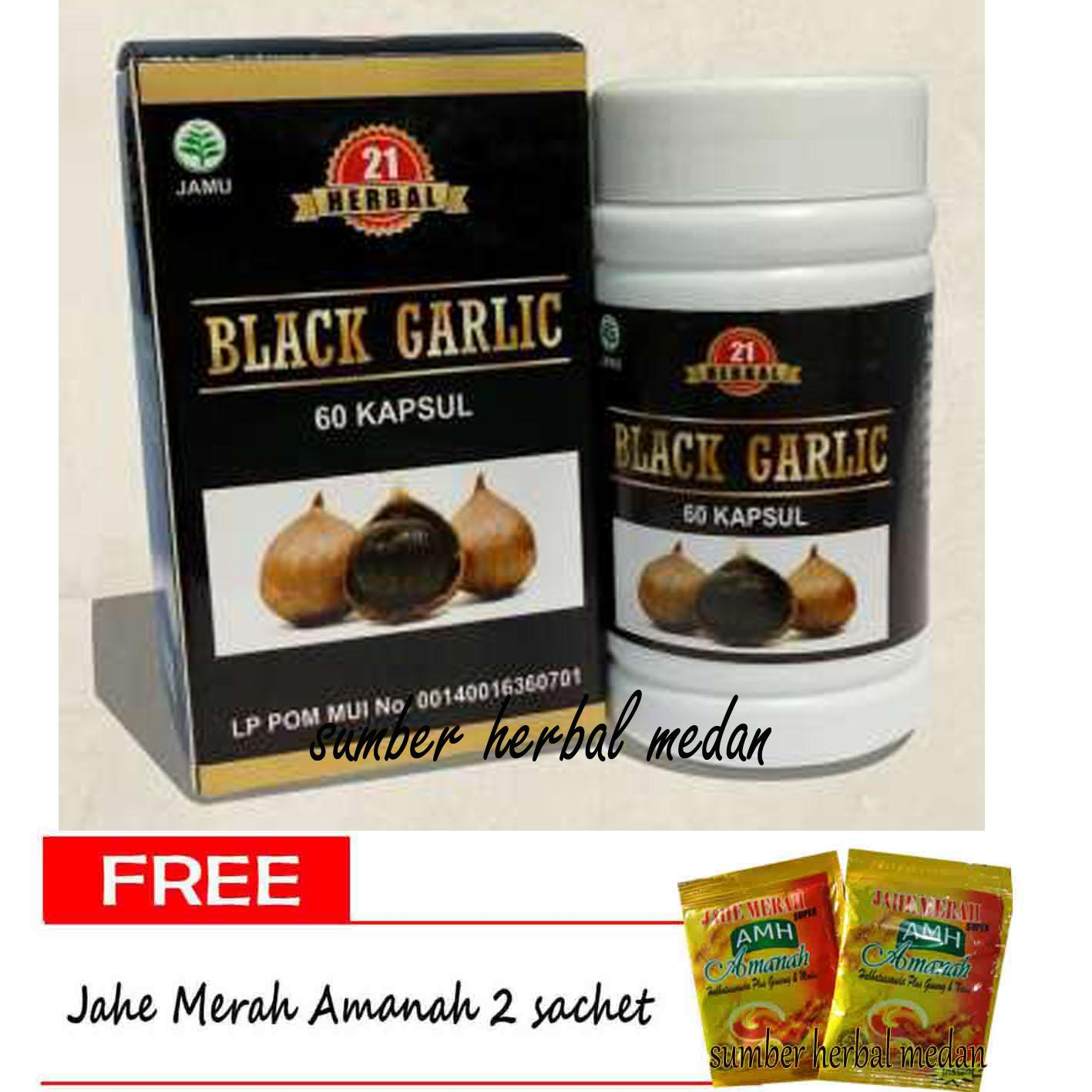 Buy Sell Cheapest Black Garlic Kapsul Best Quality Product Deals Bawang Putih Hitam Tunggal 160 Gr Lanang Herbal 21 Isi 60 Ekstrak