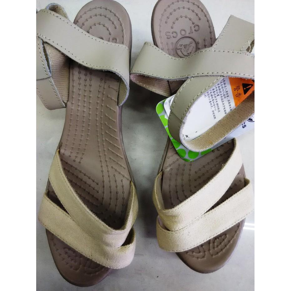 Promo CROCS LEIGH WEDGE / WEDGES Gratis Ongkir
