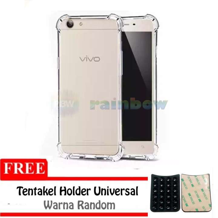 Rainbow Soft Case Anti Crack Vivo Y71 + FREE Tentakel Phone Holder (Tempelan Gurita)