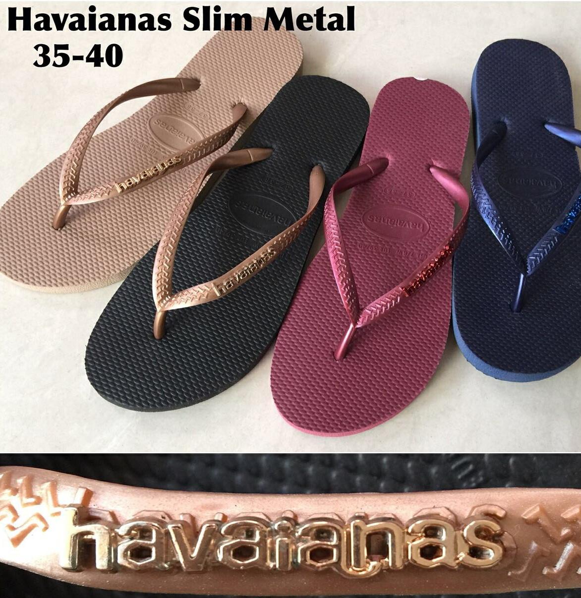 Sandal Wanita Havaianas Slim Metal (Warna Random)