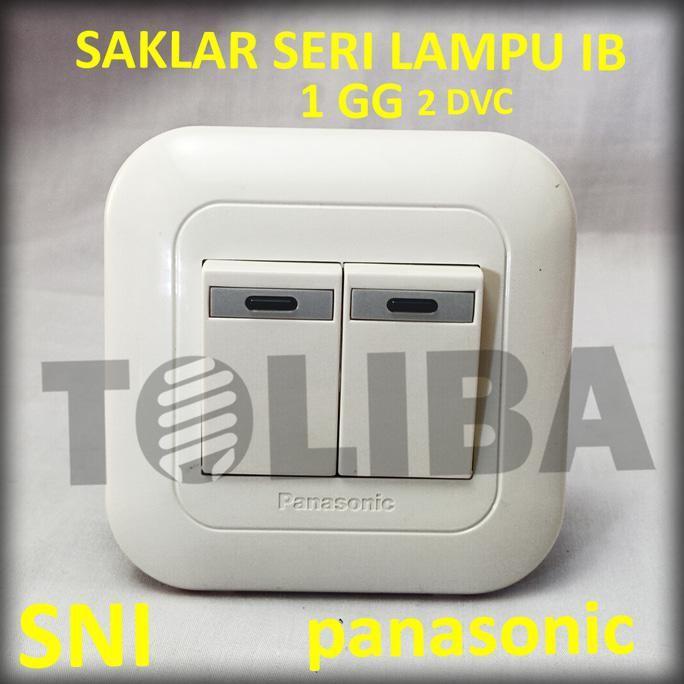ELEKTRO - SAKLAR SERI LAMPU INBOW PANASONIC WEJ5571 / 2 SAKLAR TANAM TEMBOK SNI - BRUSHSTORES