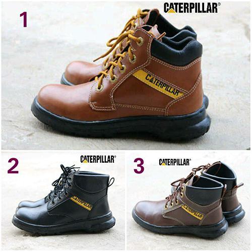 Promo Sepatu Boots Pria Caterpillar Proyek Safety Tracking GRATIS 1KAOS KAKI Fashion