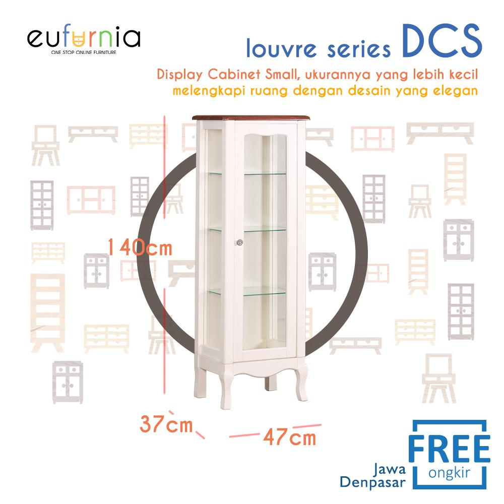 Eufurnia Olympic Louvre Series Display Cabinet Small Rak Pajang Kaca Kecil European Style - DCS 0871133