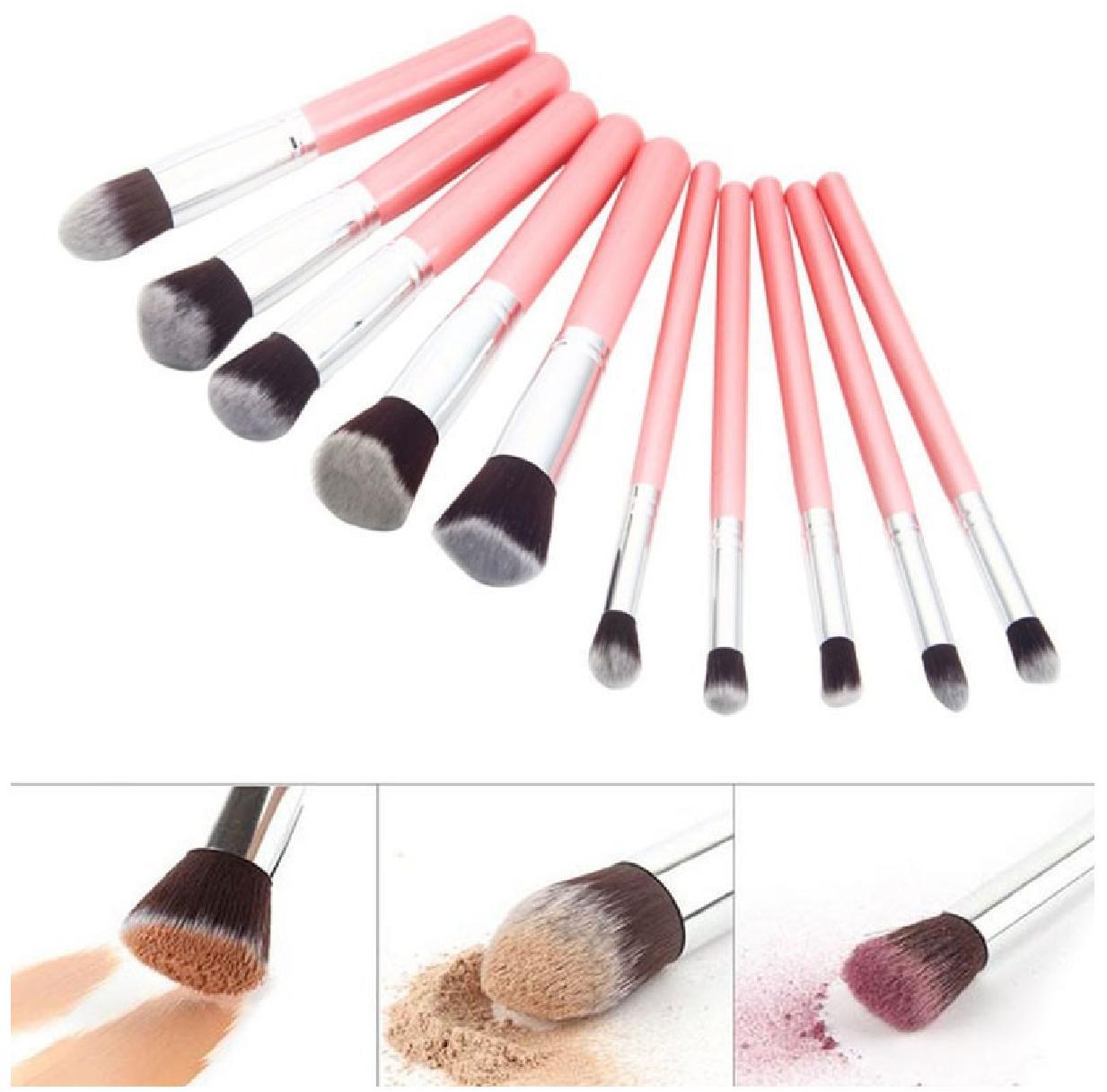 Kelebihan Jbs New York Kuas Makeup Brush 10 Set Make Up Bundle Paket K 070 Egg Spon Telur K009