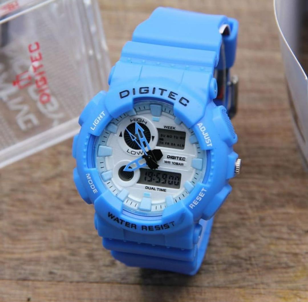 Digitec Dual Time Jam Tangan Sport Pria & Wanita Rubber Strap - DG 2111