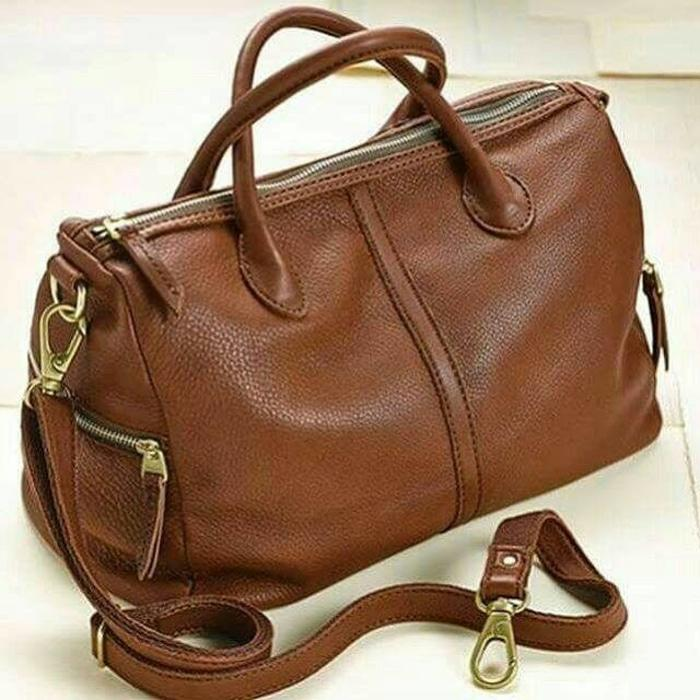 Tas Fossil Original. Fossil Erin 2 Zip Brown Leather NWT Authentic