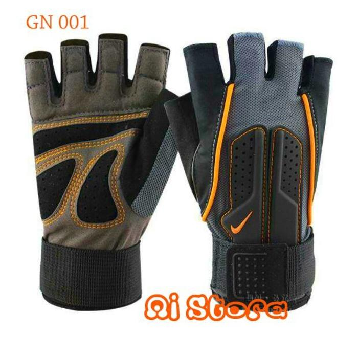 [Size L] Sarung Tangan Fitness Nike  / Gym Glove Nike GN 001 - pG0p6E