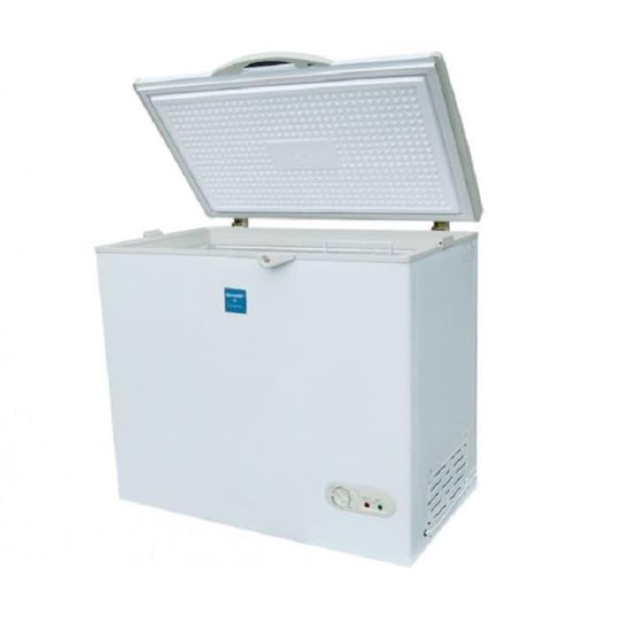 Sharp Chest Freezer FRV200 White Freezer Box ( KHUSUS GOSEND)