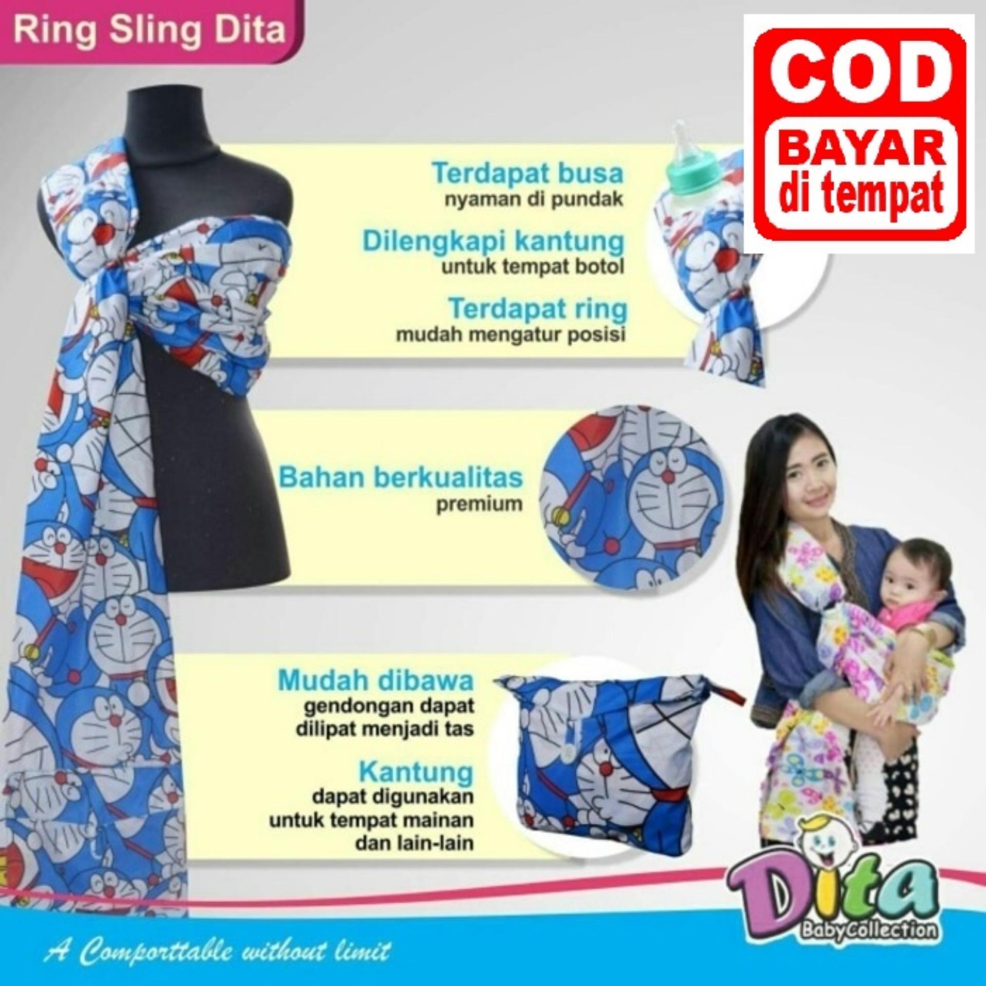 Gendongan Ring Sling - Biru Doraemon
