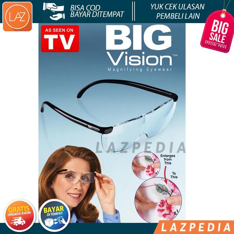 Laz COD - Big Vision Kacamata Pembesar 160% Magnify Penglihatan Menjadi Besar dan Zoom Unisex / Transparan - Lazpedia A475