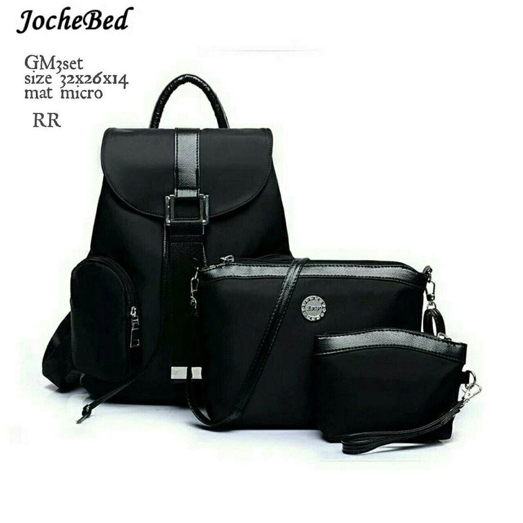 Jual Tas Ransel Backpack Sekolah / Kuliah Wanita Fashion Jochebed Murah HTM Promo