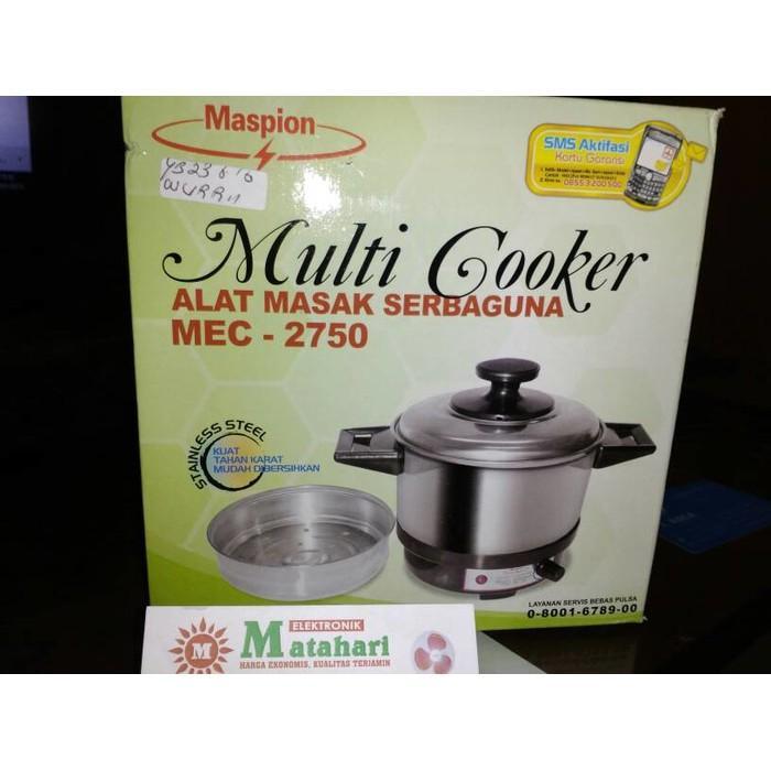 Multi Cooker / Panci Listrik Maspion 400W 0.75 L  Mec-2750 / - Tbjznu
