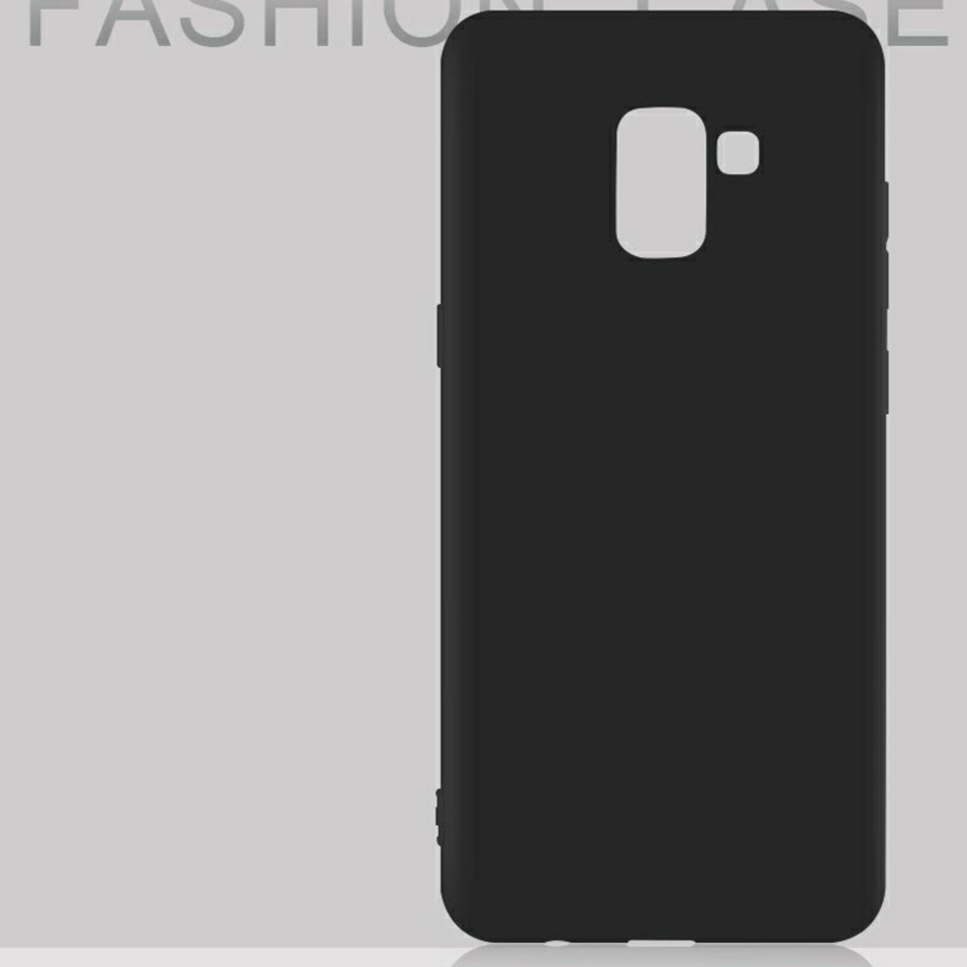 Softcase Samsung A8 2018 Case Tpu Slim Black Matte