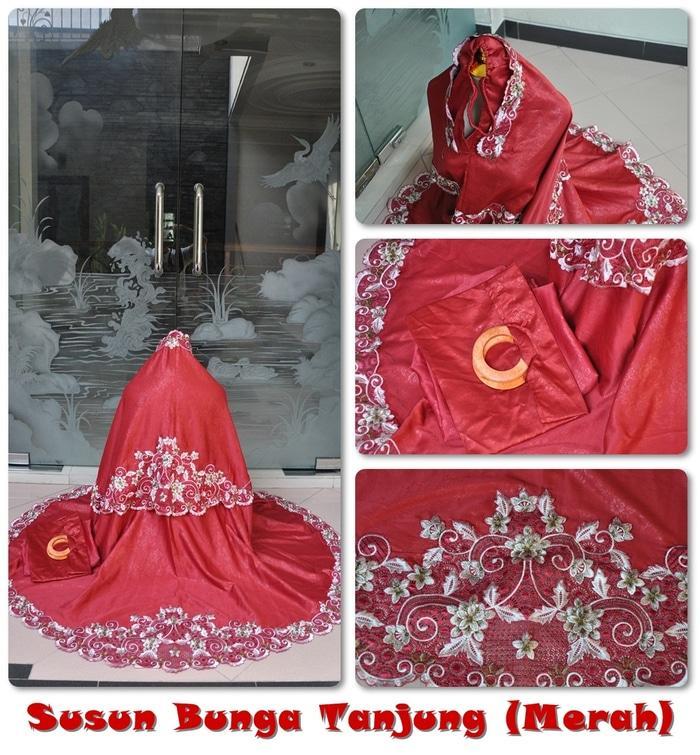 Mukena Susun Bunga Tanjung Merah / PERLENGKAPAN SHOLAT / ALAT SHOLAT / TELEKUNG / MUKENA / MUKENA DEWASA TERMURAH / MUKENA DEWASA BERKUALITAS / BEST SELLER / MUKENA KEKINIAN / MUKENA MURAH