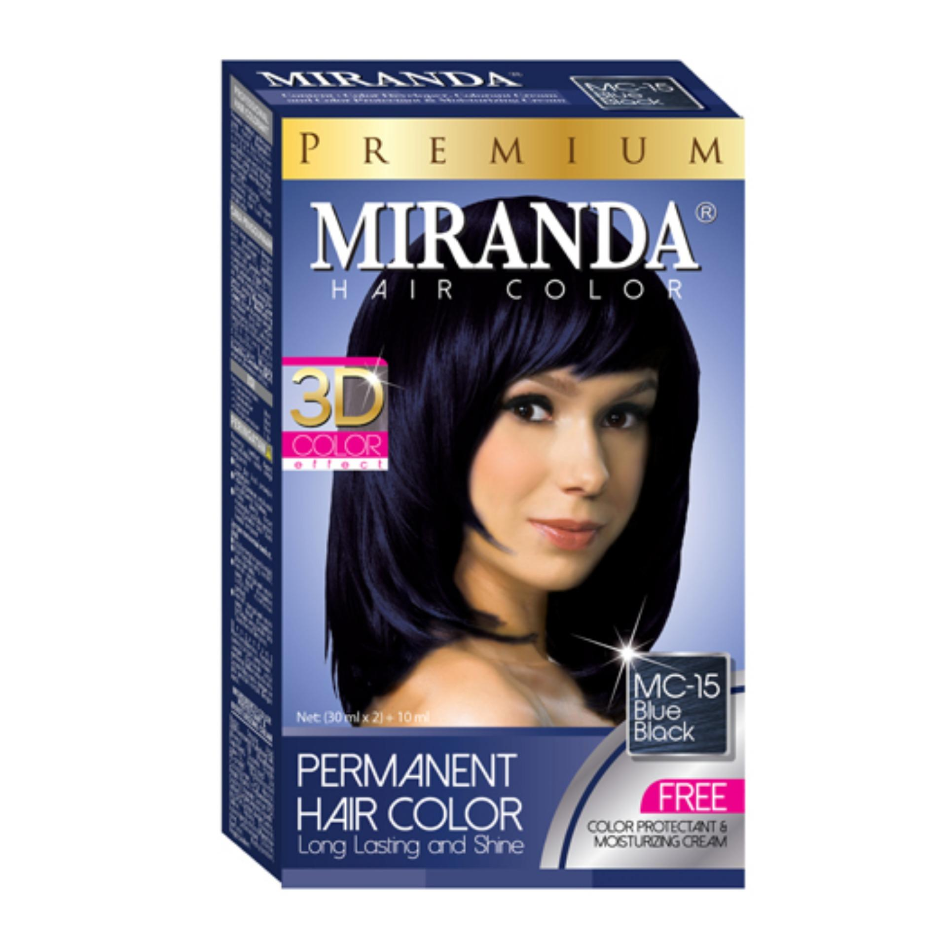 Miranda Permanent Hair Color Cat Rambut MC-15 - Blue Black