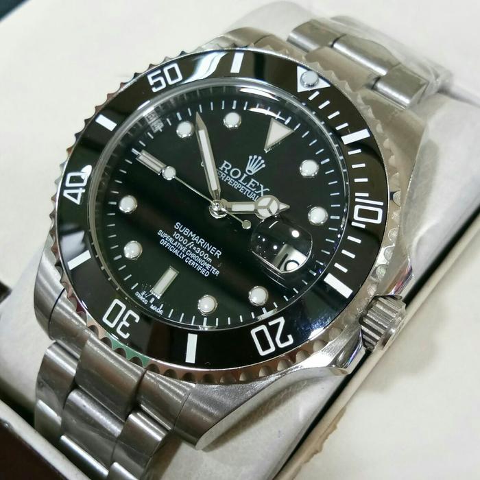 Silver Chain Rolex Submariner Automatic Jam Tangan Pria