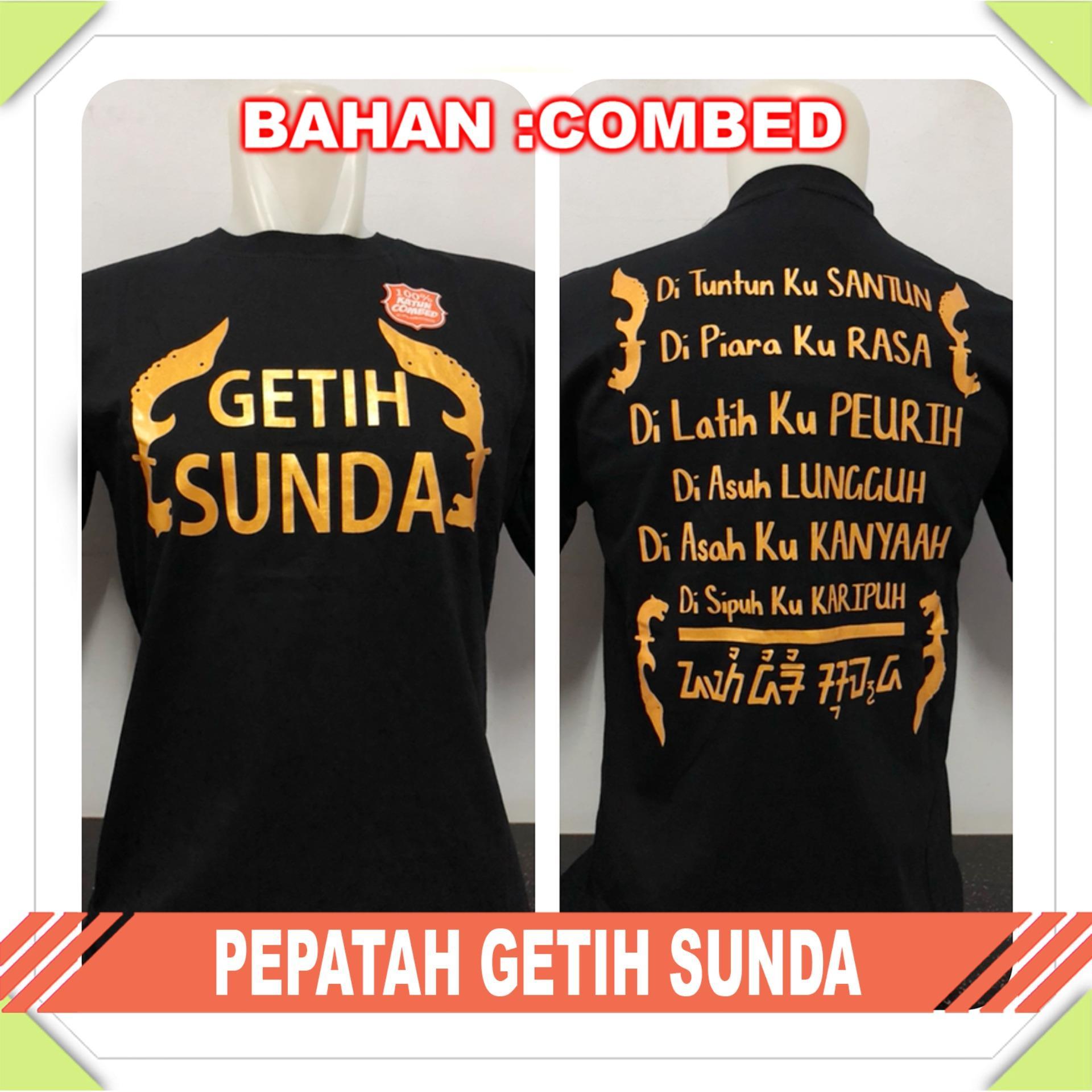Gracestore - Kaos T-shirt Distro Premium Pepatah Getih Sunda - Hitam