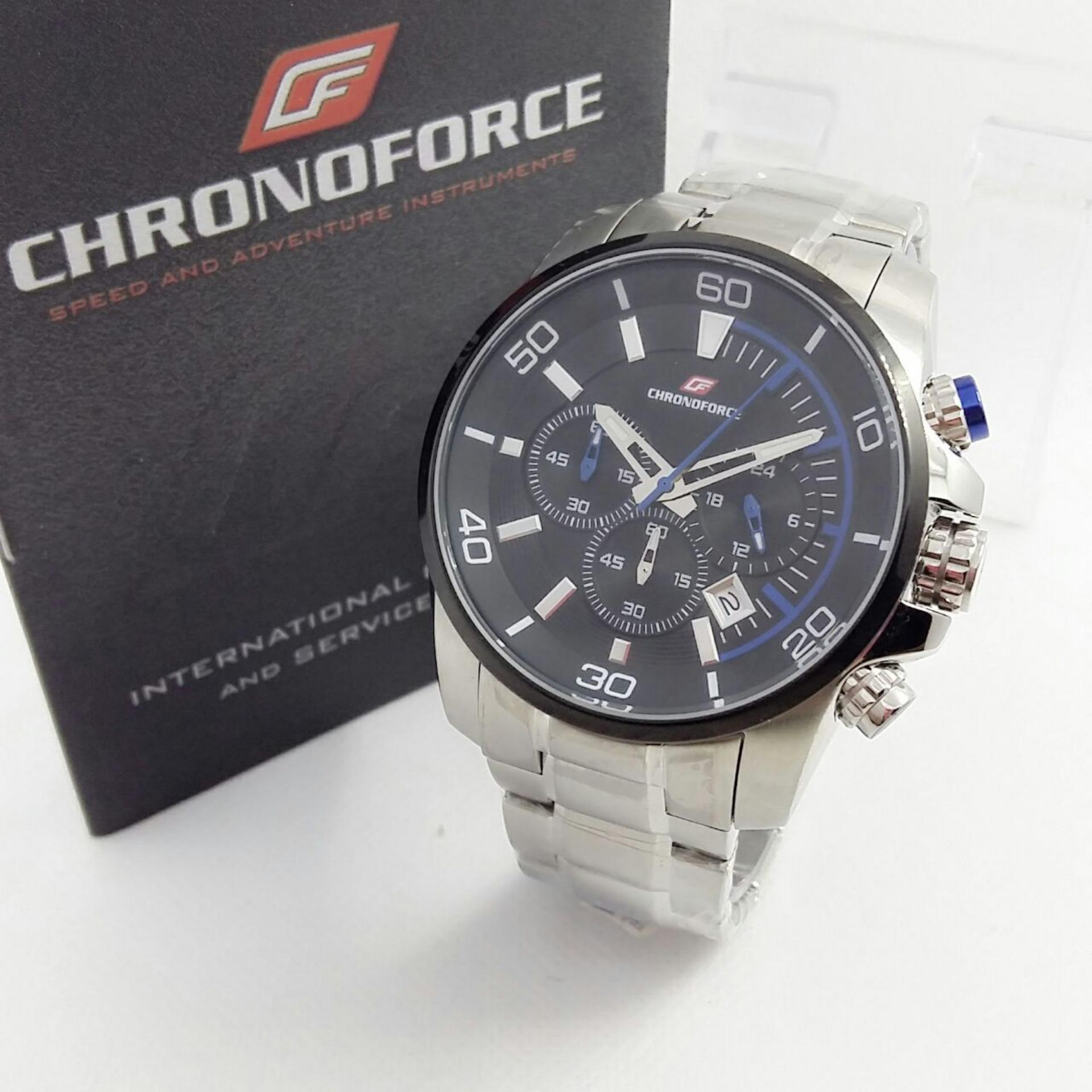 CHRONOFORCE CR5227GZ - Jam Tangan Fashion Pria - Full Stainless - Chronograph Mode
